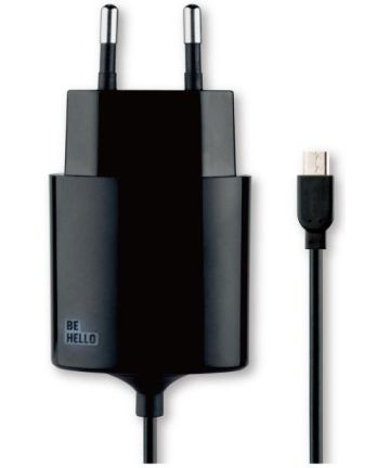 BeHello Thuislader Micro USB (1.2m) 2.1A Zwart