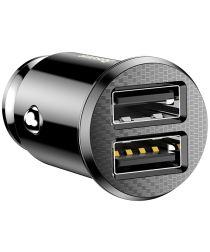 Baseus Dubbele USB Autolader 3.1A Zwart