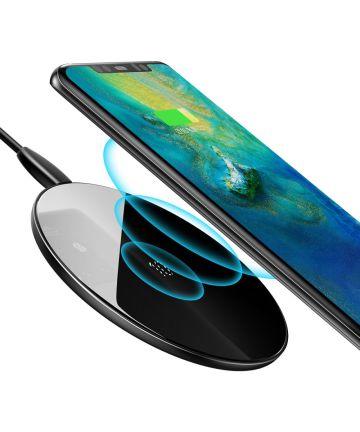 Baseus Qi Draadloze Snellader 10W Smartphonelader Zwart Opladers