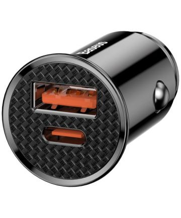 Baseus Dubbele Qualcomm Quick Charge Autolader Zwart