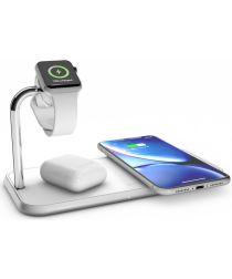 ZENS Aluminium Dual Smartphone en Apple Watch Draadloze Oplader Wit