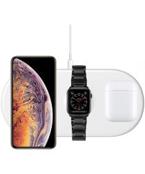 Baseus 3 in 1 Draadloze Oplader [iPhone + Apple Watch + AirPods] Wit