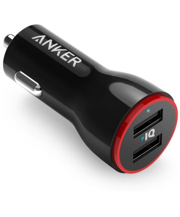 Anker PowerDrive 2 Poorts 24W Autolader Zwart Opladers