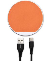 4smarts Select LIGNO 10W Fast Charge Draadloze Oplader Zilver/Oranje