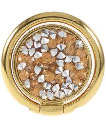 Universele Kickstand Ring en Vinger Houder Attachable Glitter Goud