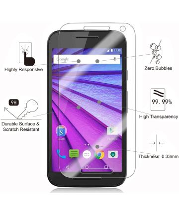 Motorola Moto G 3rd Gen Tempered Glass Screen Protector