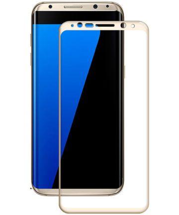 Samsung Galaxy S8 Plus Volledig Dekkende Tempered Glass Goud