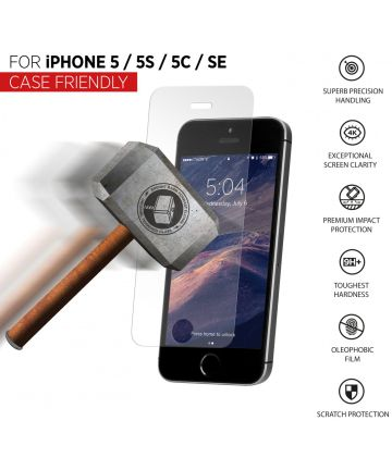THOR Tempered Glass CF Apple iPhone 5/5S/5C/SE Clear