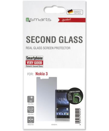 4smarts Second Glass Limited Cover Nokia 3