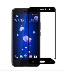 HTC U11 Volledig Dekkende Tempered Glass Screen Protector Zwart