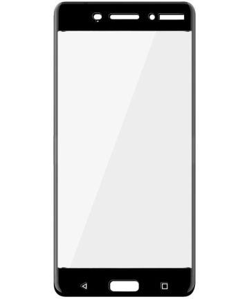 Nokia 6 Volledig Dekkende Tempered Glass Screen Protector Zwart