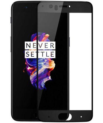 OnePlus 5 Volledig Dekkende Tempered Glass Screen Protector Zwart