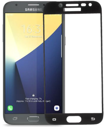 Samsung Galaxy J5 (2017) Zijde Tempered Glass Screen Protector Zwart