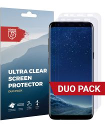 Rosso Samsung Galaxy S8 Ultra Clear Screen Protector Duo Pack