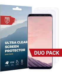 Rosso Samsung Galaxy S8 Plus Ultra Clear Screen Protector Duo Pack