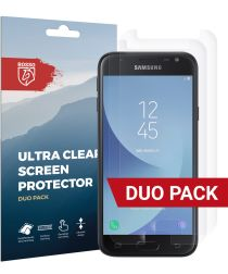 Rosso Samsung Galaxy J3 2017 Ultra Clear Screen Protector Duo Pack
