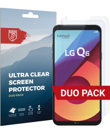 Rosso LG Q6 Ultra Clear Screen Protector Duo Pack Screen Protectors