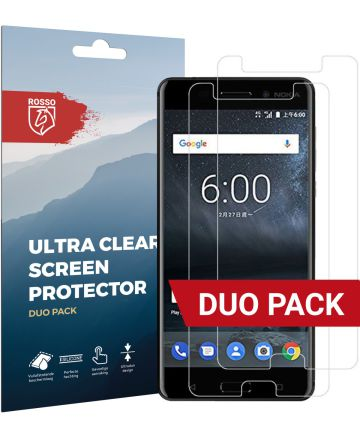 Rosso Nokia 6 Ultra Clear Screen Protector Duo Pack Screen Protectors