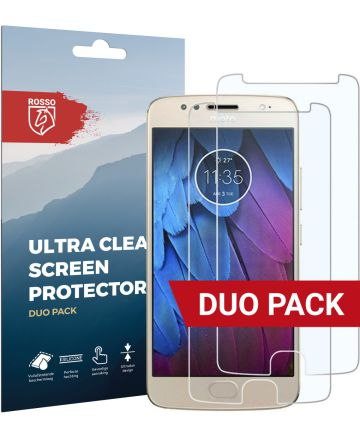 Rosso Motorola Moto G5S Plus Ultra Clear Screen Protector Duo Pack