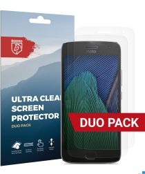 Rosso Motorola Moto G5 Plus Ultra Clear Screen Protector Duo Pack