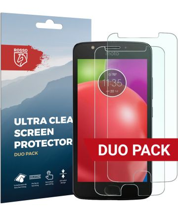 Rosso Motorola Moto E4 Ultra Clear Screen Protector Duo Pack