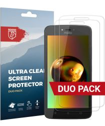 Rosso Motorola Moto C Plus Ultra Clear Screen Protector Duo Pack