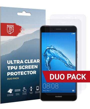 Rosso Huawei Y7 2017 Ultra Clear Screen Protector Duo Pack Screen Protectors