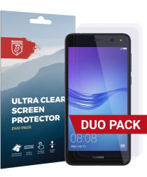 Rosso Huawei Y6 2017 Ultra Clear Screen Protector Duo Pack