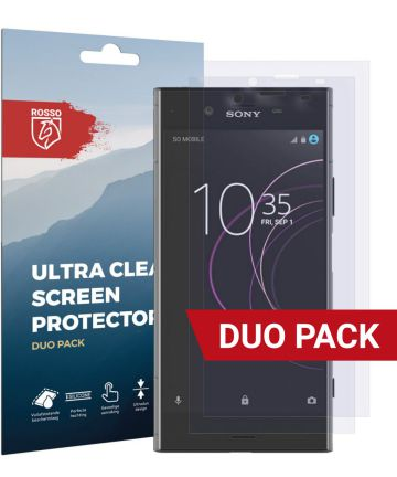 Rosso Sony Xperia XZ1 Ultra Clear Screen Protector Duo Pack
