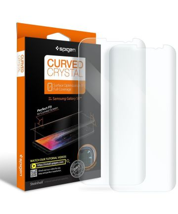 Spigen Curved Galaxy S8 Case Friendly Screen Protector