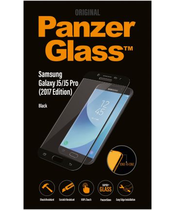 PanzerGlass Samsung Galaxy J5 2017 Edge To Edge Screenprotector Zwart