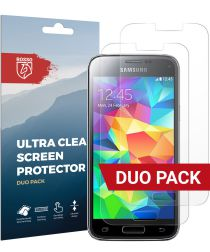 Rosso Samsung Galaxy S5 Mini Ultra Clear Screen Protector Duo Pack