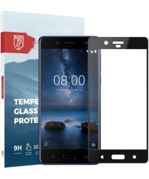 Rosso Nokia 8 9H Tempered Glass Screen Protector Zwart