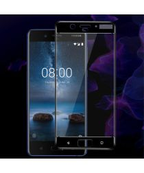 Nokia 8 Volledig Dekkende Tempered Glass Screen Protector Zwart