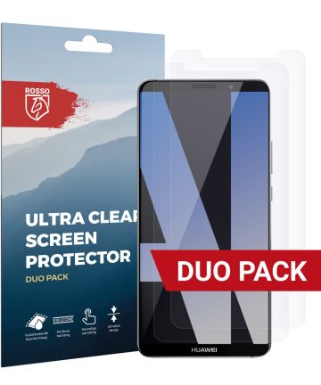 Rosso Huawei Mate 10 Pro Ultra Clear Screen Protector Duo Pack Screen Protectors