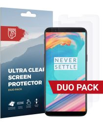 Rosso OnePlus 5T Ultra Clear Screen Protector Duo Pack