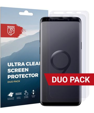 Rosso Samsung Galaxy S9 Ultra Clear Screen Protector Duo Pack