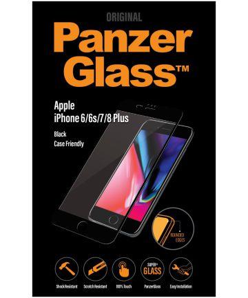 PanzerGlass iPhone 6/7/8 Plus Case Friendly Screenprotector Zwart Screen Protectors