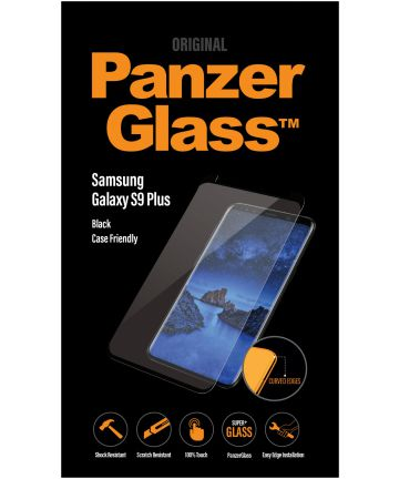 PanzerGlass Samsung Galaxy S9 Plus Case Friendly Screenprotector Zwart Screen Protectors