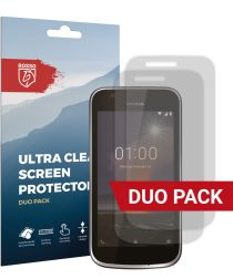 Rosso Nokia 1 Ultra Clear Screen Protector Duo Pack