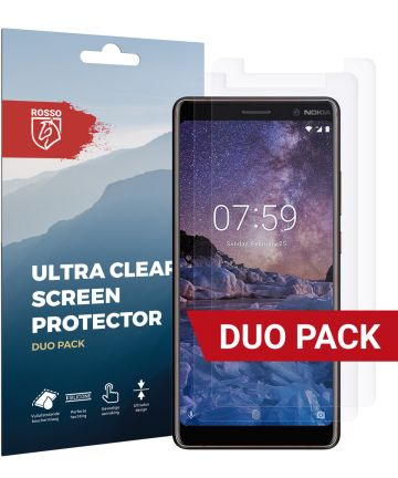 Rosso Nokia 7 Plus Ultra Clear Screen Protector Duo Pack Screen Protectors