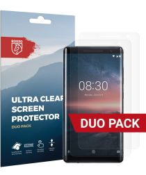 Rosso Nokia 8 Sirocco Ultra Clear Screen Protector Duo Pack