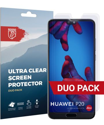 Rosso Huawei P20 Ultra Clear Screen Protector Duo Pack Screen Protectors
