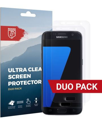 Rosso Samsung Galaxy S7 Ultra Clear Screen Protector Duo Pack Screen Protectors