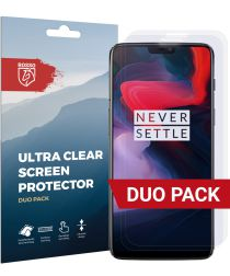 Rosso OnePlus 6 Ultra Clear TPU Screen Protector Duo Pack
