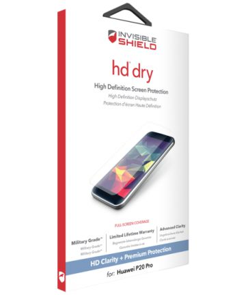 InvisibleSHIELD HD Dry Screen Protector Huawei P20 Pro