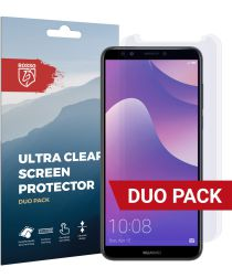 Rosso Huawei Y7 2018 Ultra Clear Screen Protector Duo Pack