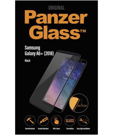 PanzerGlass Samsung Galaxy A6 Plus Edge To Edge Screenprotector Zwart