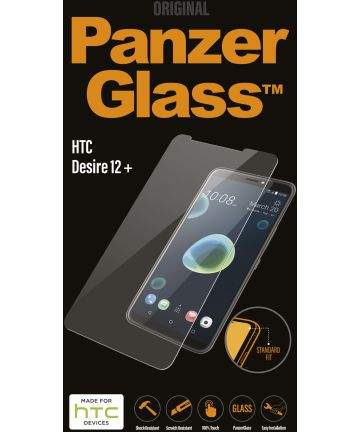 PanzerGlass HTC Desire 12 Plus Edge To Edge Screenprotector Zwart