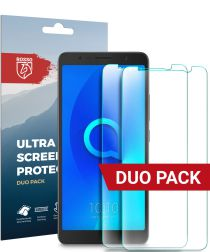 Rosso Alcatel 3c Ultra Clear Screen Protector Duo Pack